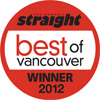 The Georgia Straight Best of Vancouver Winner 2012